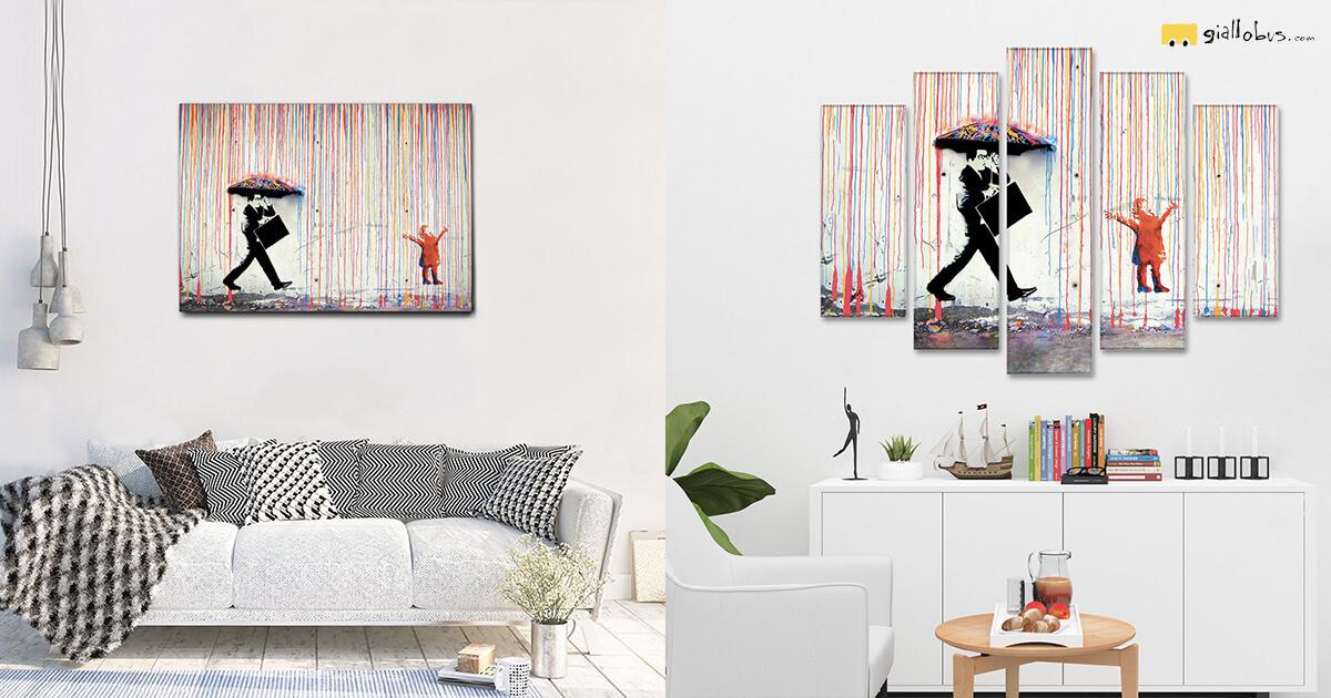 Bansky-quadro-su-tela-pioggia-di-colori