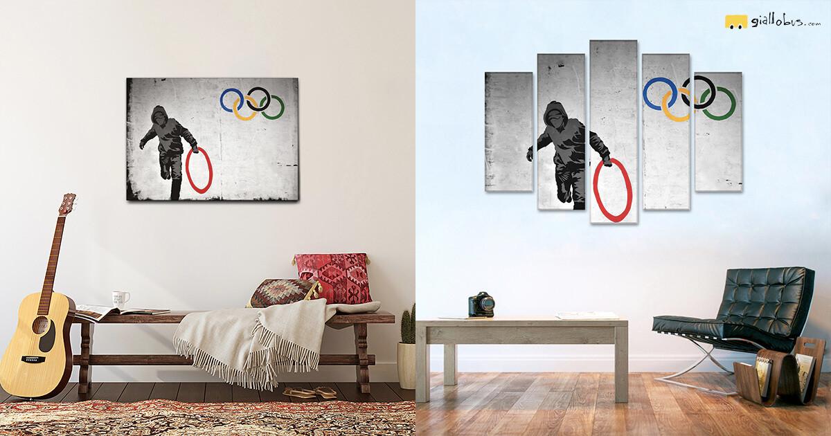 cerchio-olimpico-quadri-banksy-su-tela