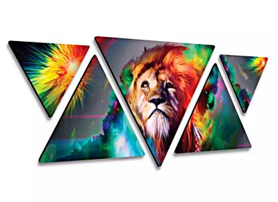5 triangular multi-panel