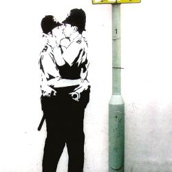 Cops kissing