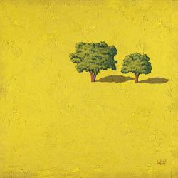 Trees Yellow Background