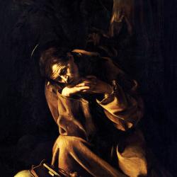 St. Francis in prayer