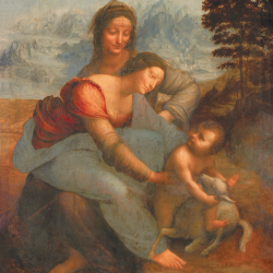 Sant'Anna, the Madonna, the child and the lamb