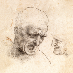 Study for Two Heads of Soldiers
