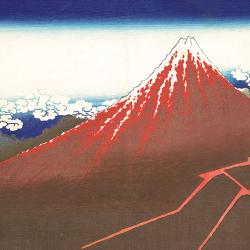 Fuji above lightning