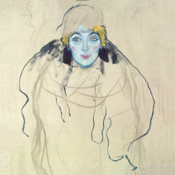 Frontal portrait of a lady