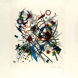 Lithograph for the fourth Bauhaus portfolio