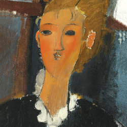 Young woman with a collar