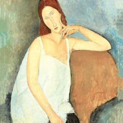 Jeanne Hebuterne in an armchair