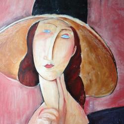 Jeanne Hebuterne with wide headdress
