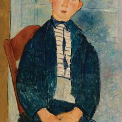 Boy with striped shirt