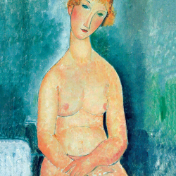Seated nude with red hair