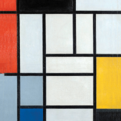 Composition n. 6 with Great Red Yellow and Gray