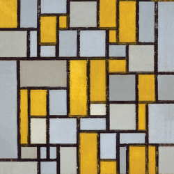 Composition  n. 8 with Color Planes and Gray Lines