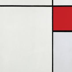 Composition n. 15 with Red, Blue and Gray