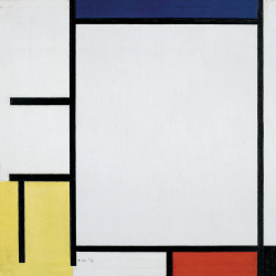 Composition n. 1 with Blue, Red, Yellow and Black