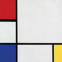 Composition  n. 9 with Red Blue and White