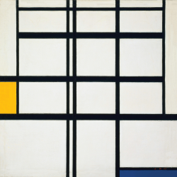 Composition n. 5 in Yellow, Blue and White