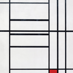 Composition  n.10 in Red and White