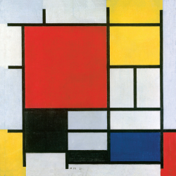 Composition n. 11 in Red Yellow Blue and Black