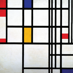Composition  n.12  in Red, Blue and Yellow