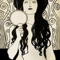 Detail of the Nuda Veritas illustration