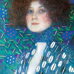 Close-up of Emilie Floge