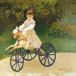 Jean Monet with his wooden horse