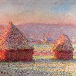 Sheaves of wheat at dawn