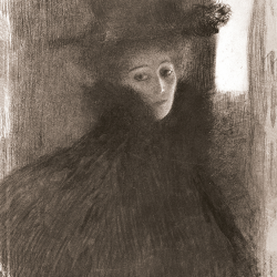 Lady with hat and cape