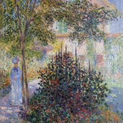 Camille Monet in the garden of Argenteuil