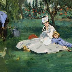 Monet family in the garden