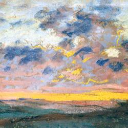 Panorama at sunset