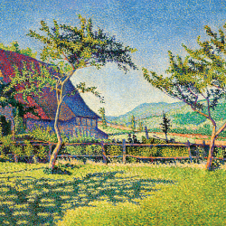 The lawn at Comblat le Chateau