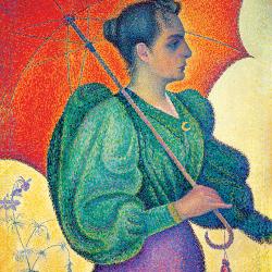 Donna con l'ombrello