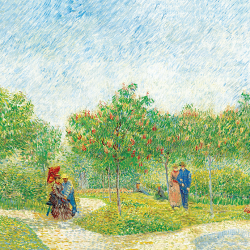 Garden with loving couples