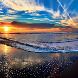 Gorgeous sunrise at the beach