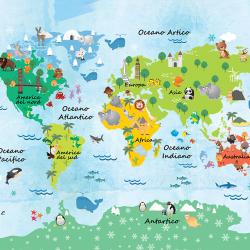 World map for children
