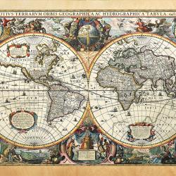 Nova Terrarum Orbis world map