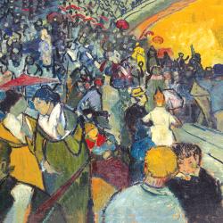 Spectators in the arena in Arles