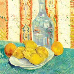 Jug and plate of citrus