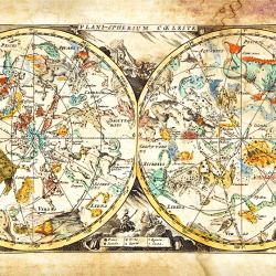 Ancient map of the constellations
