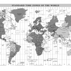 White time zone world map