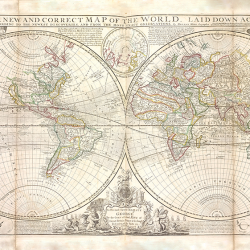 The new and correct VINTAGE World Map