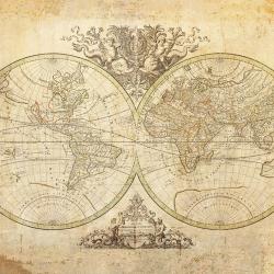 Vintage world map 1691