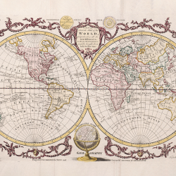 Vintage world map 1782