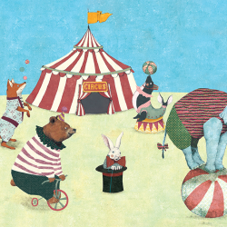 Illustrations for children.Circus characters