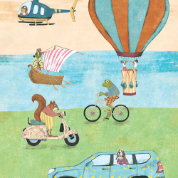 Illustrations for children Transport with Characters