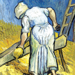 The peasant woman who chops flax