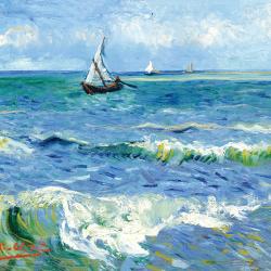The sea at Les Saintes Maries